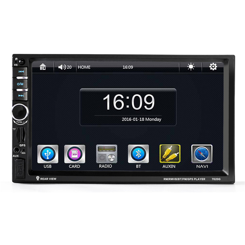 7020G 7 1 DIN 1024 600 Touch Screen Car Radio DVD MP5 Video Player Rear CamBluetooth