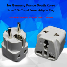 4 x Universal REINO UNIDO/EUA/UE/UA 1 para 2 Splitter 3 Pinos/2 Pinos do Soquete a Alemanha França Coréia Do Sul Viagens Plug Power Adapter UE