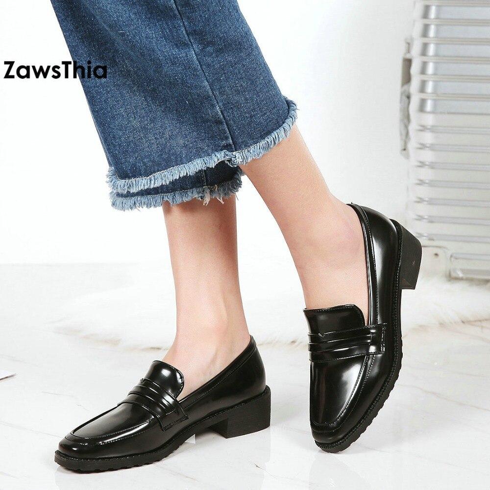 Zawsthia 2018 Women S Slip On Penny Loafers Handmade