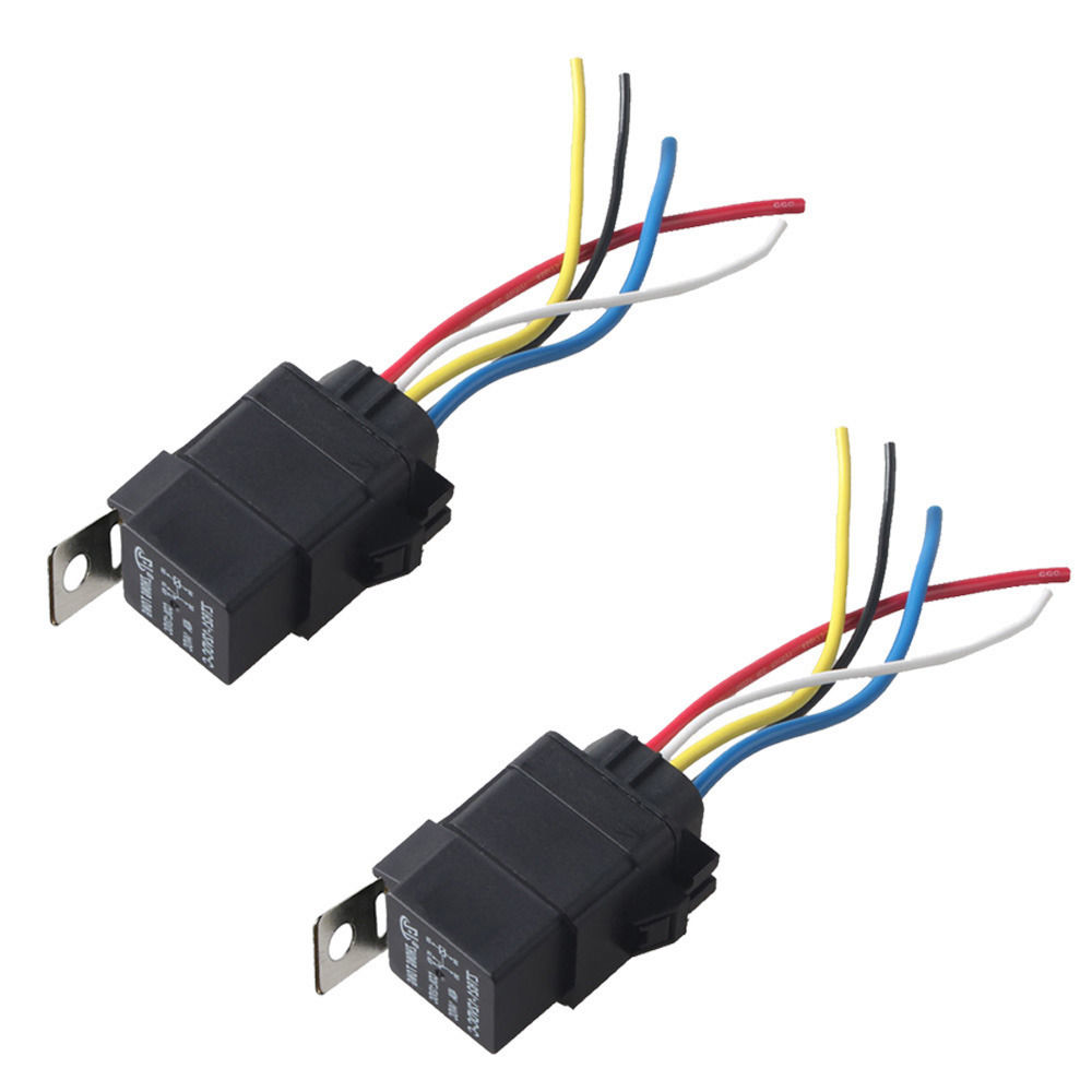 Ee Support 5pcs Car 12v 40a Spdt Relay Socket Plug 5pin 5 Wire Dpdt Wiring Waterproof Seal Iron Kit Styling Xy01 In Switches Relays From Automobiles