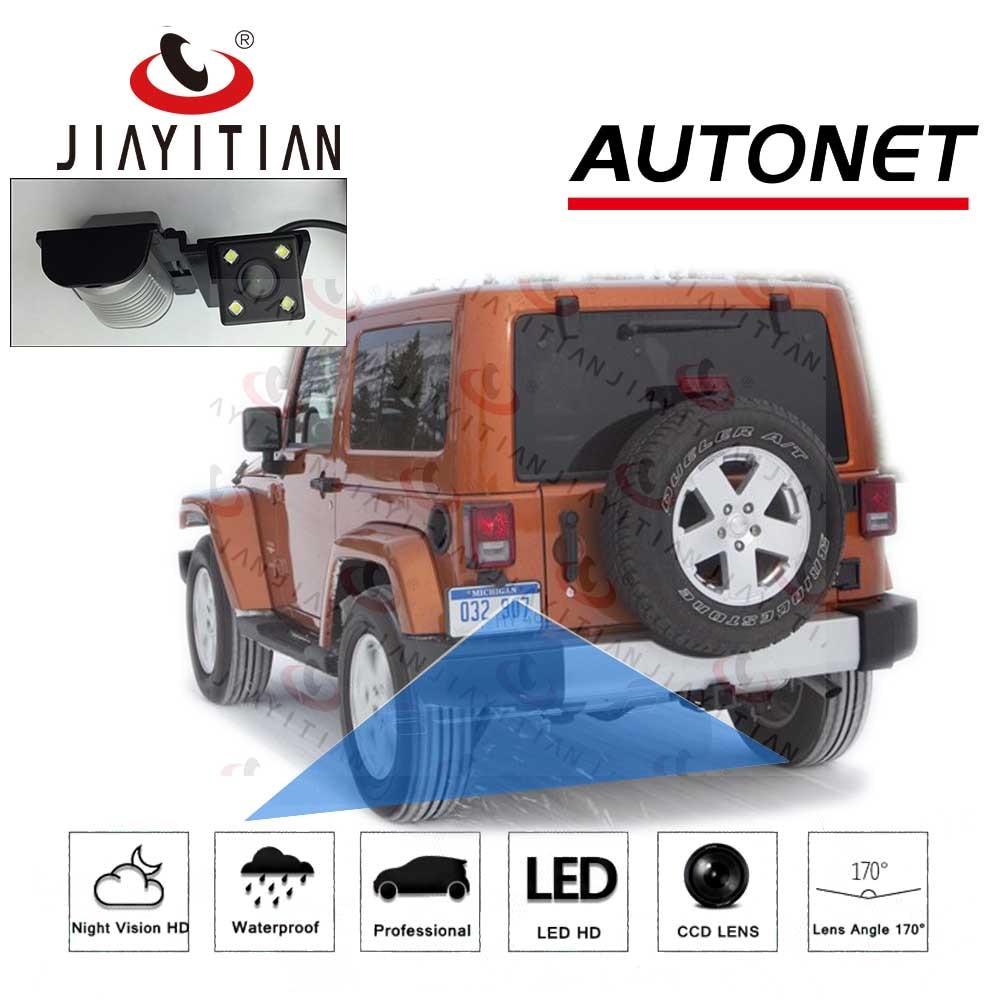 Waterproof Rear-View License Plate Rear Reverse Parking Camera for Jeep Wrangler JKU//Jeep JK//JKU//Unlimited JK Rubicon//Sahara//Unlimited Sahara 07-18 Backup Camera for Car