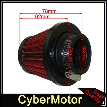 38mm Air Filter For Chinese GY6 50cc QMB139 Moped Scooter 70cc 90cc 110cc 125cc Pit Dirt Bike ATV Quad Go Kart Motorcycle - discount item  5% OFF Motorcycle Parts