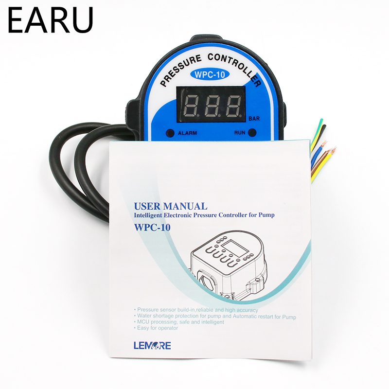 "Image 4 - 1pc Digital Pressure Control Switch WPC 10 Digital Display WPC 10 Eletronic Pressure Controller for Water Pump With G1/2""Adaptercontrol switchcontroller controlcontrol digital -"