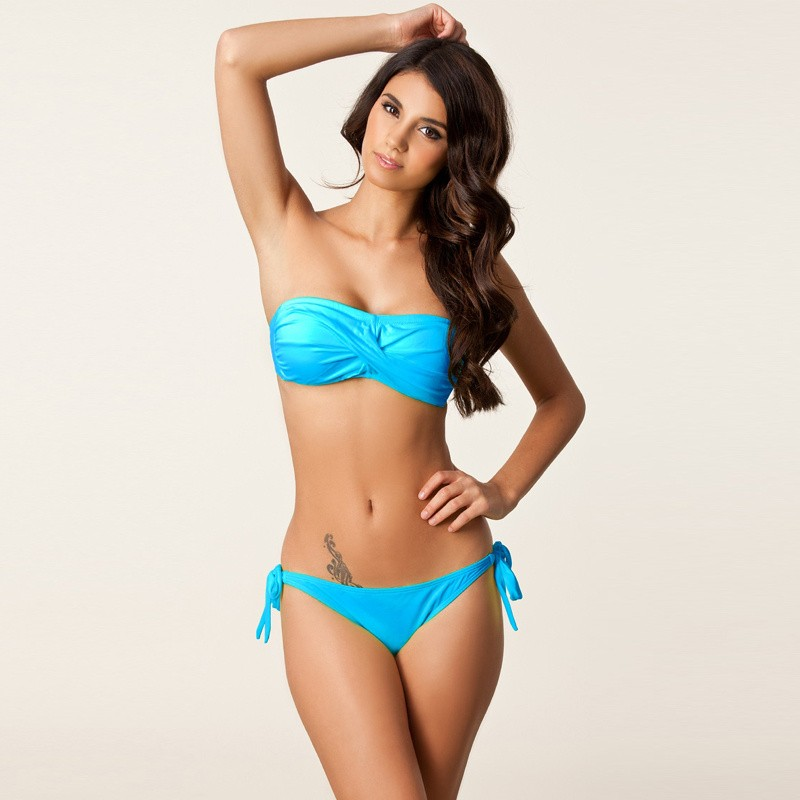 ᗗHigh Neck Bikini Thong Swimsuit Swimming Suit Two Piece