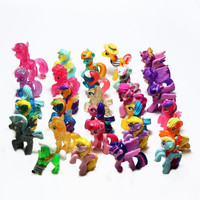 Mini LPS Animation 5CM100 Pony 3D Mini Girl Toy Action Character Collection Model Toy Children