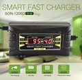 Wholesale 4pcs  SON Genuine Full Automatic Smart 12V 6A Lead Acid/GEL Battery Charger with LCD Display US/EU Plug