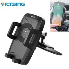 VicTsing Qi Fast Wireless Charger CD Slot Car Phone Mount Auto Charging Powers U