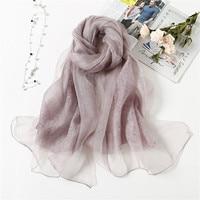 2019 Luxury brand women scarf fashion soft wool and silk scarves shawls and pashmina lady caps female bandanas large Foulard