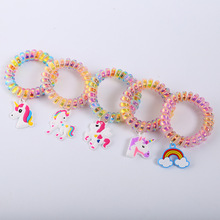 Girls' Colorful Silicone Unicorn Bracelets Set
