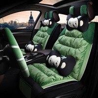 Модный Зеленый милый автомобильный чехол для сидений новый автомобиль украшения аксессуары Розовый Фиолетовый с рулевым колесом крышка ше