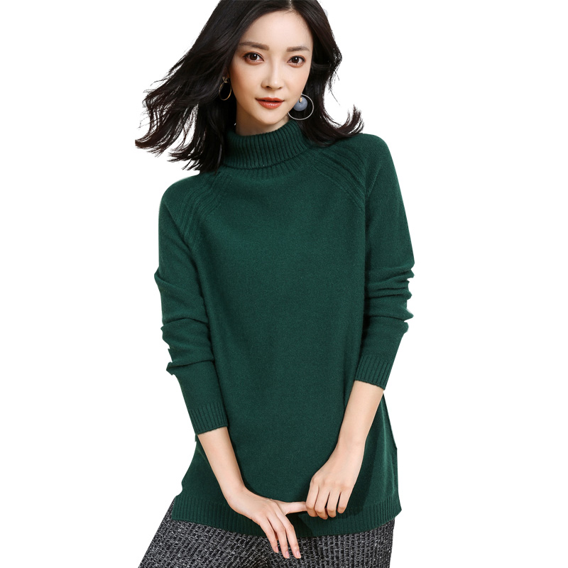 DILLY FASHION High Collar Korean Style Raglan Long Sleeve