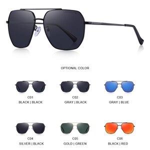 Image 4 - MERRYS Uomini di DISEGNO Classico Occhiali Da Sole Quadrati Aviation Telaio HD Occhiali Da Sole Polarizzati Per Gli Uomini di Guida UV400 Protezione S8211