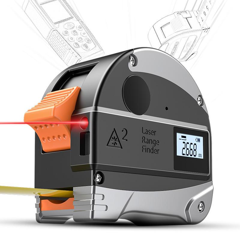 30 mt Laser-entfernungsmesser Digitale Maßband Abstand Meter 5 mt Tragbare Einziehbare Klebeband Lineal IP54 Infrarot Bau Werkzeuge