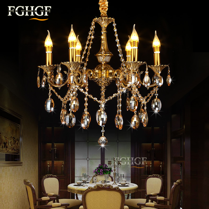 Modern Crystal Chandelier Light luminaria Luxury 6 Arms Chandeliers Lamp Candle Bulbs Lustres Lamp for living room Bedroom