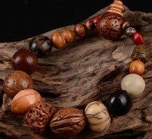 בציר רטרו טבעי 18 זרע בודהי צמיד צמיד בודהה עץ חרוזים צמיד טיבט בודהיסטי תפילה מקדש דת תכשיטים