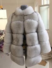 Finland Imported Saga Fur Coat Luxury Fox Fur Coat Thick Warm Fur Jacket