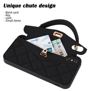 Image 2 - Crossbody Wallet Phone Case For iPhone 12 11 Pro Max 10 X 7 8 6 6s Plus SE 2020 XR XS Max Handbag Purse Soft Silicone Back Case