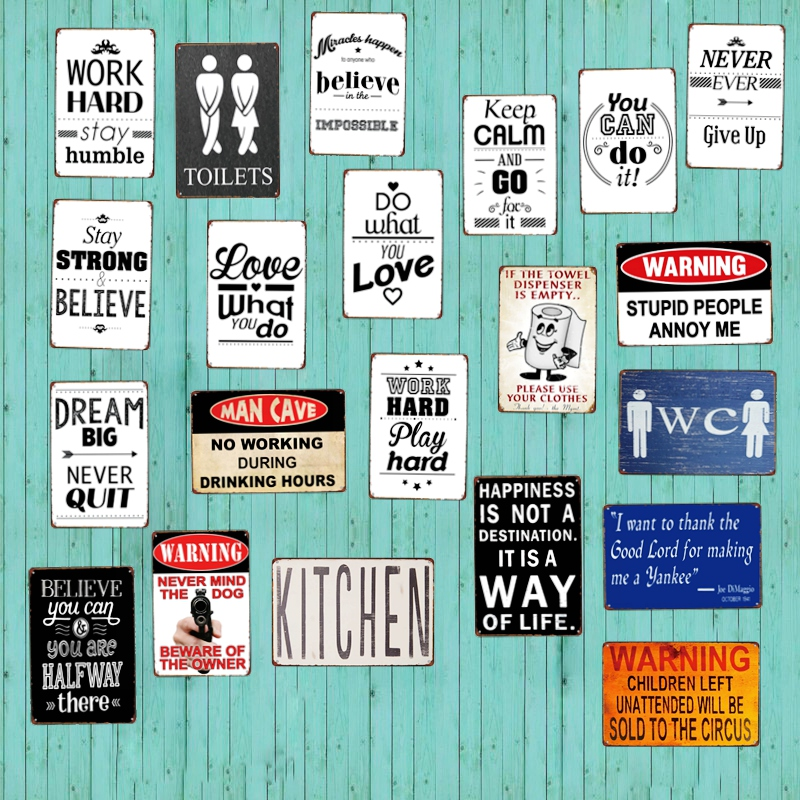 US $3.99 45% OFF|Do What You Love Retro Metal Sign Toilets Sign Wall  kitchen Apartment Home Art Vintage Decor Metal Poster 30X20CM A 3357-in  Plaques & ...