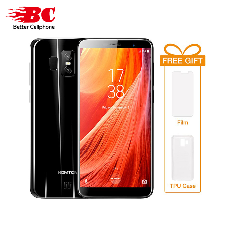 Original HOMTOM S7 Android7.0 Rear 13MP+2MP 5.5 HD IPS Fingerprint Daul SIM Card 3GB+32GB MTK6737 Quad Core 1.3GHZ Smart phone