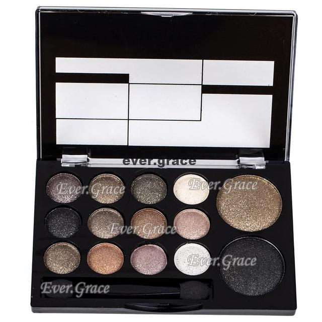 ICYCHEER Neutral Nude 14 Colors Makeup Eye Shadow Shimmer Warm Eyeshadow Palette Pigmented Smoky Silky Kit 4