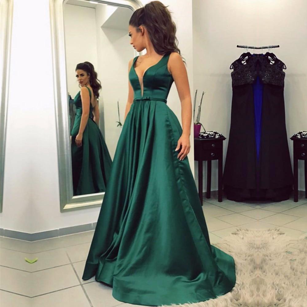 Emerald Green Long Prom Dresses