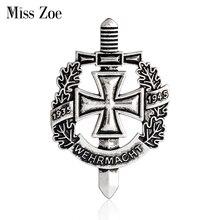 WW2 Ejército alemán militar Wehrmacht broche 1935-1945 antiguo s pin de bronce capa broche Pins Retro vintage joyería