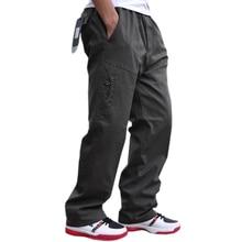 Новые повседневные мужские брюки на осень и зиму, высококачественные модные хлопковые комбинезоны с множеством карманов, толстые брюки больших размеров 6XL