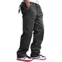 Autunno e inverno nuovo pantaloni degli uomini casuali di modo di alta qualità multi tasca tute di cotone più grasso di grandi dimensioni 6XL pantaloni