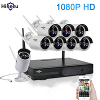 2MP Wireless CCTV System 1080P 8CH HD Wireless NVR Kit HDD Outdoor IR Night Vision IP