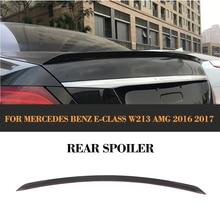 цена на E Class Carbon Fiber Car Rear Trunk Boot Spoiler Wing for Mercedes Benz W213 E200 E300 E400 E550 E63 AMG Sedan 4 Door 2016 2017