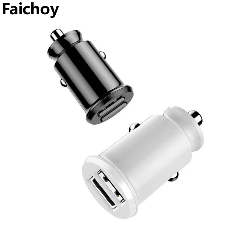 Quick Charge 3.1A 2 Port USB Car Charger For iPhone Samsung Xiaomi Mini Dual USB Fast Car Charging Mobile Phone Charger Adapter