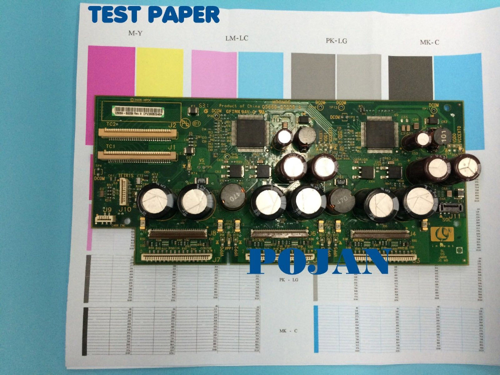 CARRIAGE PCA BOARD for Designjet Z2100 3100 PS Z5200 Carriage board Q6659-67019 Q6659-60175  Plotter parts Free shipping brand new inkjet printer spare parts konica 512 head board carriage board for sale
