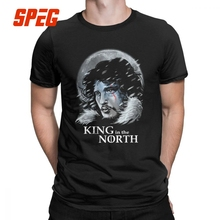 Game Of Thrones Jon Snow T Shirts for Men King in the North Designs Clothes 2019 House Stark Graphic T-Shirt 100% Cotton Tees