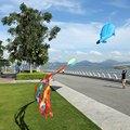 De alta Calidad 3D Enorme Sin Marco Azul Suave Estilo Delfín Delfines Cometas Parafoil Gigante Grande Vuelo de la Cometa Kite Deporte Al Aire Libre Juguetes