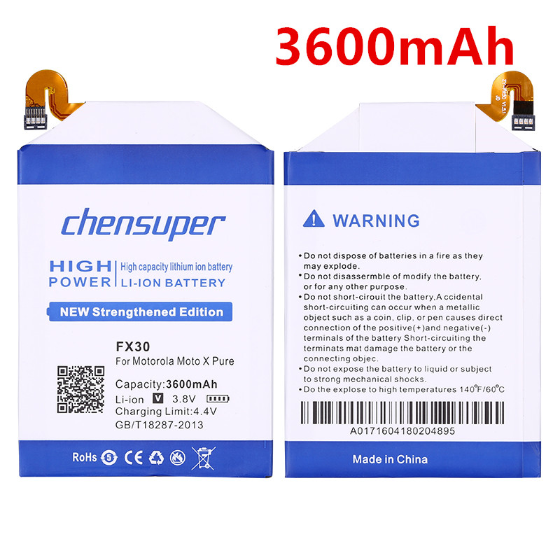 Losoncoer 3700mah Fx30 For Motorola Moto X Pure Edition X Style Pure X Style X+2 Xt1570 Xt1572 Xt1575 Battery+tracking Number Mobile Phone Parts Mobile Phone Batteries
