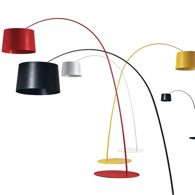 Long Necked Floor lamp Light Simple design colorful Kung red black ...