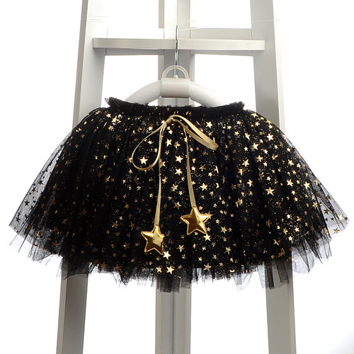 NEW spring autumn Baby Girl Clothes Girls Clothing full stars Sequins mini Skirt Casual school girls ball gown clothes for 4-10T (5)