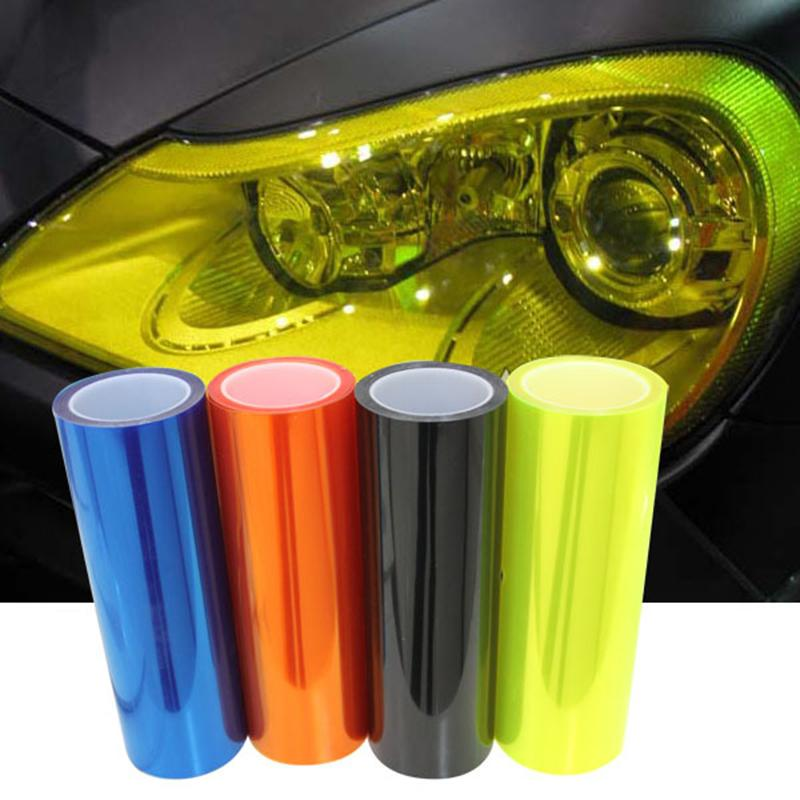 Vinyl Film Sheet Sticker Auto Car Smoke Fog Light Headlight Taillight Tint Autocollant De Voiture Araba Aksesuar Pegatinas Coc