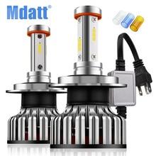 Mdatt 4 стороны автомобиля Светодиодный лампа фары H1 H7 H4 H11 светодиодный авто свет Canbus 12000Lm 100 W 9005/HB3 9006/HB4 3000 K 6000 K 8000 K лампа