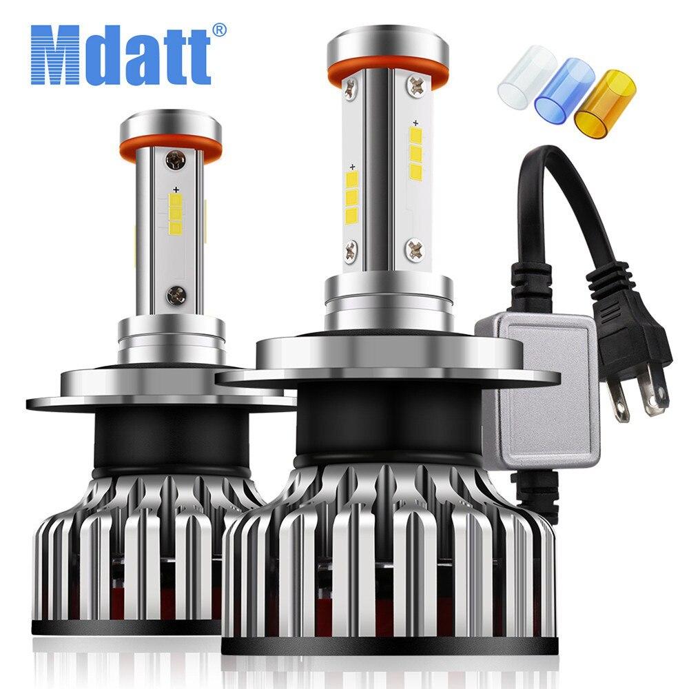 Mdatt 4 Side Car LED Headlight Bulb H1 H7 H4 H11 LED Auto Car Light Canbus 12000Lm 100W 9005/HB3 9006/HB4 3000K 6000K 8000K Lamp