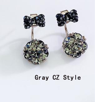 bowknot gray CZ