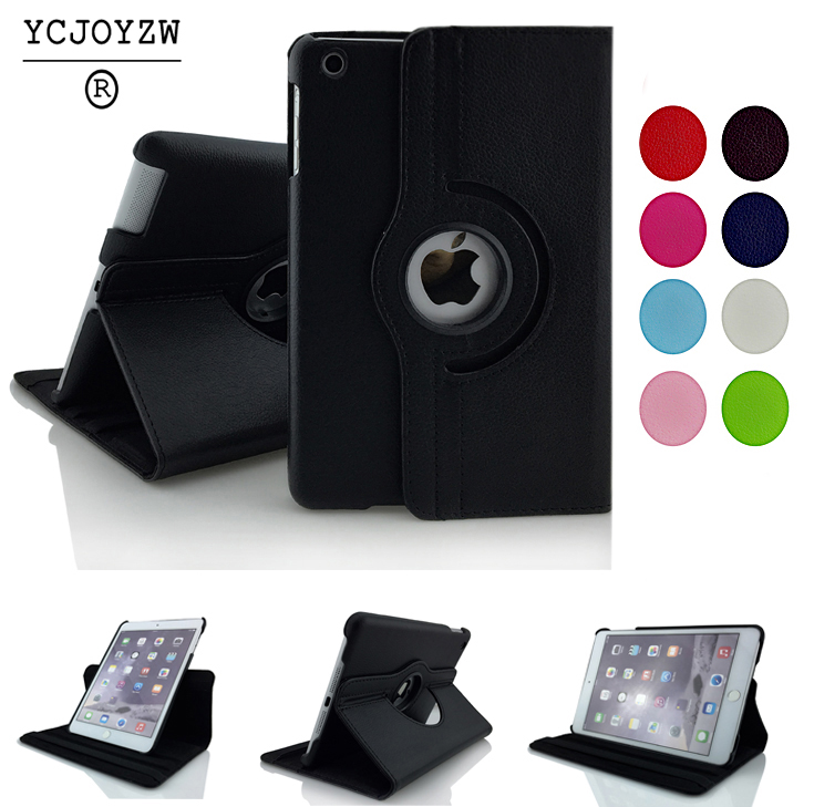 Pu Leather Rotating Case Smart Cover Stand Generation case For Apple ipad Air 2 Air 1 9.7 inch case 2017 2018 Tablet universal pu leather case for 9 7 inch 10 inch 10 1 inch tablet pc stand cover for ipad 2 3 4 air 2 for samsung lenovo tablets