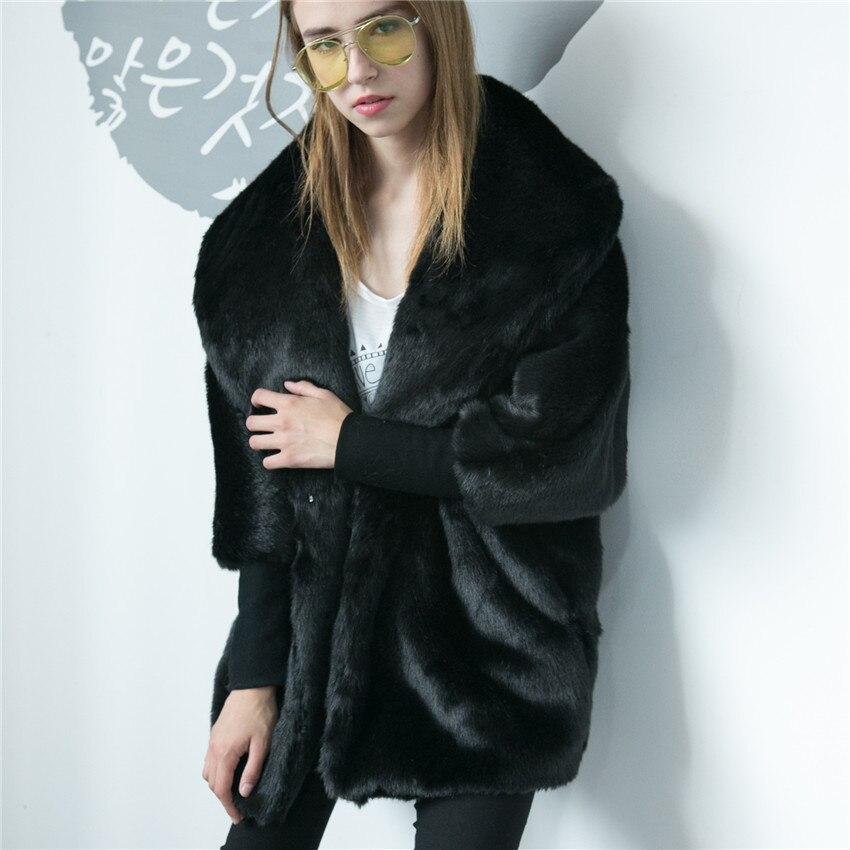 Belle Élégant Manches À Longues Parka Survêtement Camel Hiver Vêtements Aikooki Vison Faux Blazer Haut De D'hiver Fourrure black Gamme dwqdfgx