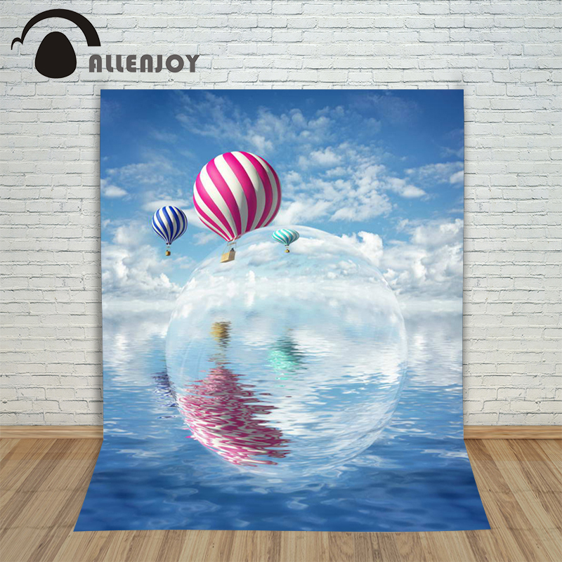 10ftx6.5ft New Arrivals Photography Backdrop Hot Air Balloon sea water polo background for photography studio Custom size