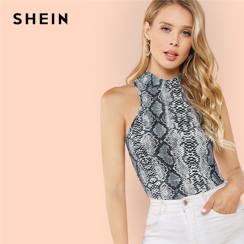 4c407785441d50 ... Button Crop Top Vest. US  9.00. (128). 269 orders. SHEIN Modern Lady  Streetwear Black V-Notch Thick Strap Rib-Knit Sleeveless Slim Fit