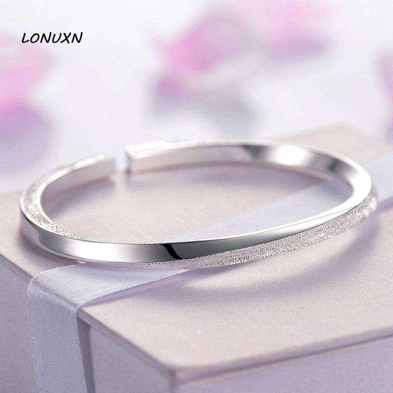 Gommage spirale impression ouvert Bracelet & Bracelet femme pur authentique 100% 999 argent Sterling luxe bijoux amoureux meilleur cadeau avec boîte