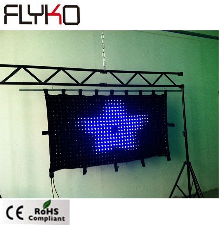 P50mm dj éclairage en vente 3ft x 6ft projecteur full hd haute résolution dmx led rideau