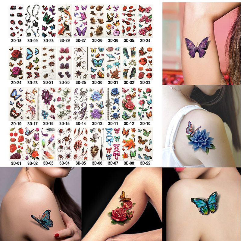 6 Sheets Health Beauty Body Art Temporary Tattoos