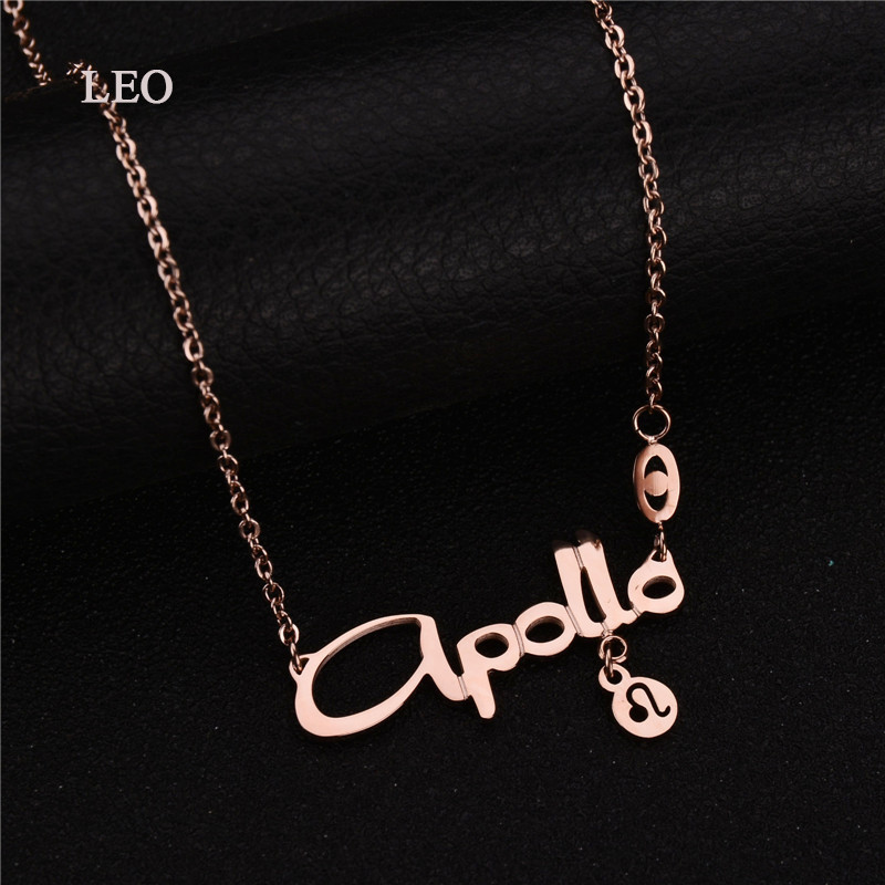 New Design Fashion Women Jewelry Stainless Steel Necklace Rose Gold