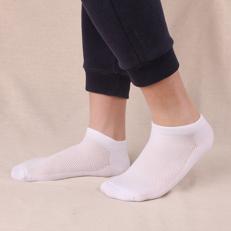10Pairs Summer Men Ankle Socks Breathable Mesh White Socks Mens Dress Socks Casual Fashion
